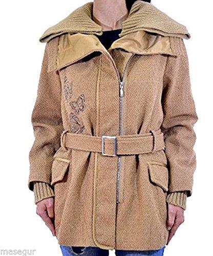 Desigual Damen Woman Mantel Coat *** CAMEL *** beige, Gr. 42