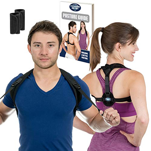 Posture Corrector for Women and Men | Best Fully Adjustable Upper Back Brace Trainer | Improves Slouching and Hunched Shoulders | for Maximum Support (Extra Large)
