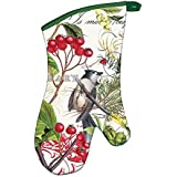 Michel Design Works Winter's Tale Padded Cotton Oven Mitt, Green