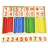 Montessori Toys For Toddlers, Preschool Teaching Tool Math Number Counting Sticks