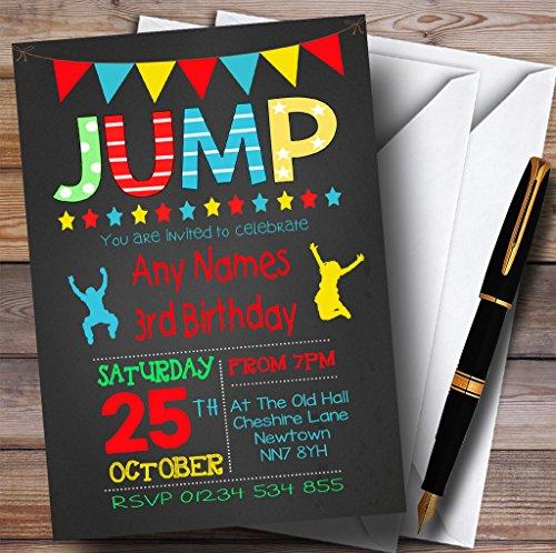 gis Boys Jump cama elástica infantil Fiesta de cumpleaños Invitaciones