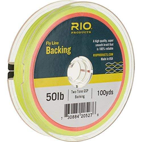 Rio Fly Fishing Backing 2-Tone Gel Spun, 50Lb 300 yd. Fly Tying Equipment, Clear