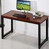 Computer Desk, 47.2 PC Office Desk Workstation, Modern Simple Style Study Table Writing Desk, Teak + Black Leg