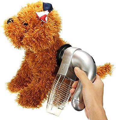 ZHX Removedor de Pelo del Animal doméstico, Limpiador de la aspiradora de la Piel de Mascotas eléctrica, Ligero y Portable,Perro Gato Que vierte la Herramienta Peine Grooming Cepillo de la Piel: Amazon.es: