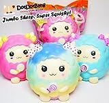 SUPER JUMBO Marshmallow Sheep Squishy, Fresh Blue, Exclusively by DotDotBang