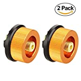 Cheap Camping Stove Adapter, Hinmay 2 Pack Camp Gas Convert Connector Auto-off Gas Cartridge Tank Adapter for Butane Canister to Screw Gas Cartridge