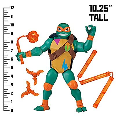 "Rise of the Teenage Mutant Ninja Turtles TMNT Michelangelo: 10"" Giant Action Figure"
