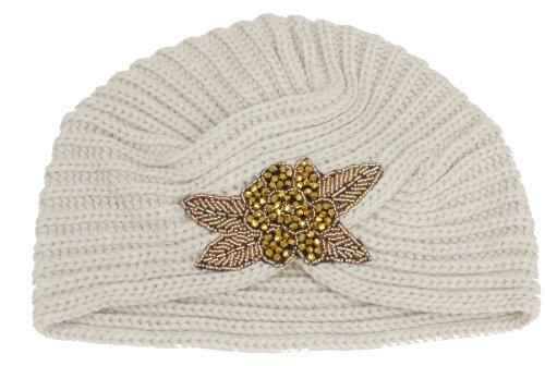 Floral Beaded Beret Turban