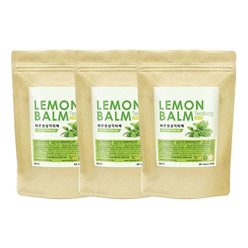 Lemon Balm 30 Tea Bags Natural 100% Health Diet Tea Vitamin C Insomnia Digestion Reduces Anxiety (3 Pack)