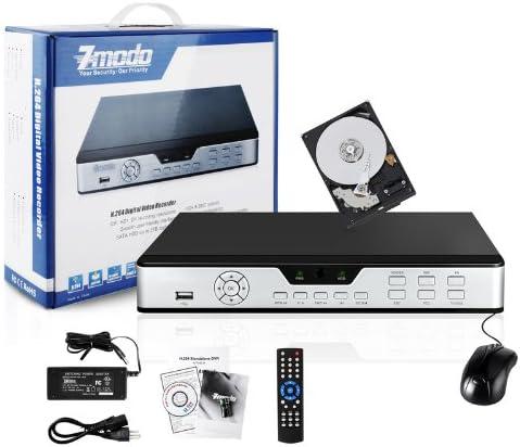 Silver Zmodo ZMD-DD-SBN8-1TB 8-Channel Security Surveillance H.264 DVR with 1TB Hard Drive preinstalled