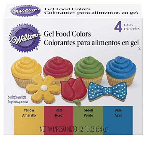Wilton 601-5581 4 Piece Primary Color Gel Icing - Mall Wilton