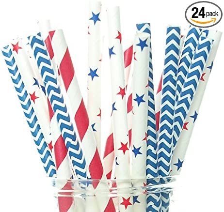 Pastel Blue Polka Dot Paper Straws x 25 Retro Drinking Cocktail Party Barbecue