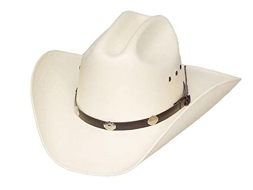 e52405af026 Sunrise Outlet Cattleman Double Pinch Straw Hat with Silver Conchos - 6 1 2
