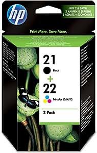 HP 21/22 - Cartucho de tinta original (negro, cian, magenta, amarillo)