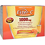 American Health Ester-C 1000 Mg Effervescent Powder Packets, Orange, 21 Count