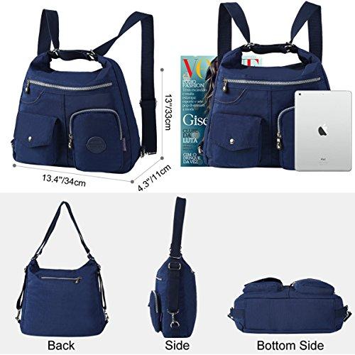 Bag Backpack Vbiger Shoulder Women Blue Waterproof Dark purpose Cross Nylon body Multi Bag wS0qgw