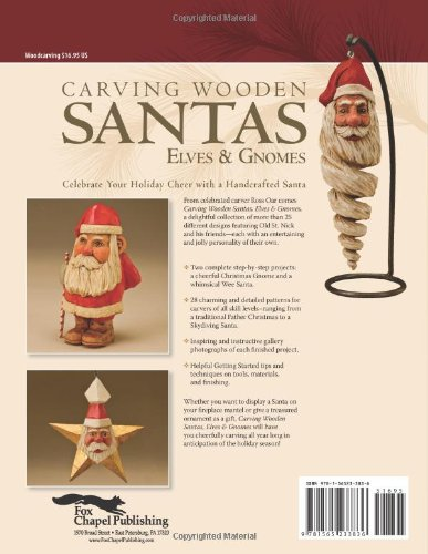 Carving Wooden Santas, Elves & Gnomes: 28 Patterns for Hand-Carved Christmas Ornaments & Figures (Woodcarving Illustrated Books)