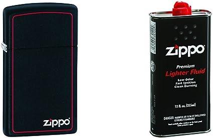 Black Matte Zippo Logo    Lighter