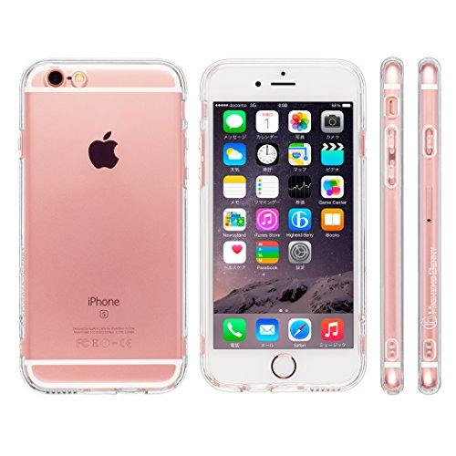 好ましい黄ばむ顕微鏡Highend berry iPhone6s ケース / iPhone6 ケース 4.7インチ 落下防止 用 ストラップ ホール 付き 保護キャップ 一体型 ソフト TPU ケース ストラップ 付き クリア