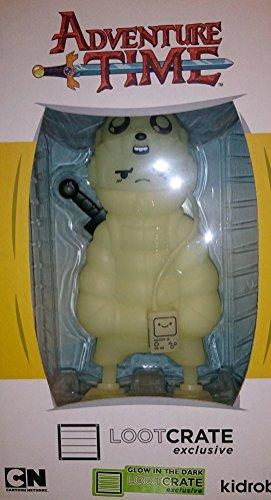 Kidrobot Vinyl Figure (Glow-in-the-Dark Adventure Time Puff Jake n Lil Finn Figure - Loot Crate Exclusive)