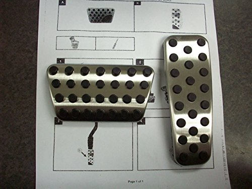 Dodge Charger Chrysler 300 Challenger stainless pedal pad (Dodge Charger Accessories)