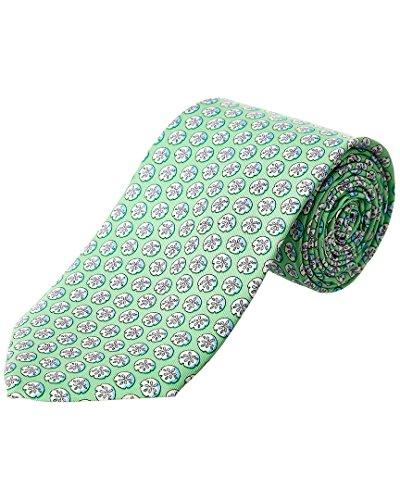 Vineyard Vines Mens Sand Dollar Printed Silk Tie, 58, Green - Design Printed Silk Tie