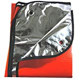 SE EB5982OR 60-Inch X 82-Inch Extra Thick Double Sided Thermal Reflective Blanket with 4 Stakes, Bright Orange Color