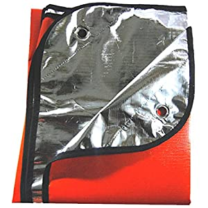 SE EB5982OR Survivor Series Extra Heavy Duty Thermal Reflective Emergency Blanket, Orange