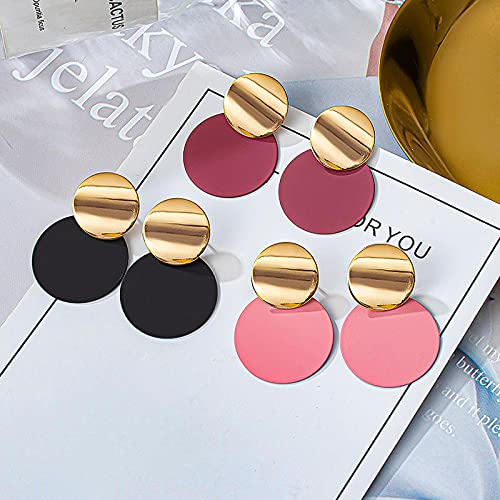 CHANBO 3 Colors Fashion Round Pendant Women's Earrings Gold Round Earrings 2021 Jewelry and Valentine Birthday Party Gift