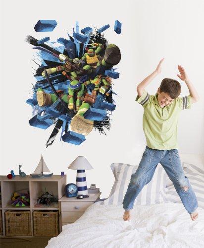 [Teenage Mutant Ninja Turtles Giant Brick Wall Decal 25
