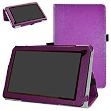 """RCA 7 Voyager III Case,Mama Mouth PU Leather Folio 2-folding Stand Cover for 7.0"""" RCA 7 Voyager III RCT6973W43 Android Tablet,Purple"""