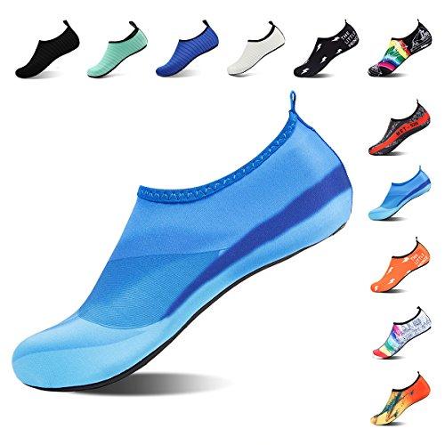 ROTOK Water Shoes Aqua Socks Barefoot Outdoor Beach Sport Yoga Swim Surfing Shoes Non-Slip for Men Women