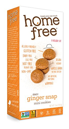 Homefree Treats You Can Trust Holiday Gluten Free Mini Cookies, Ginger Snap, 5 Ounce