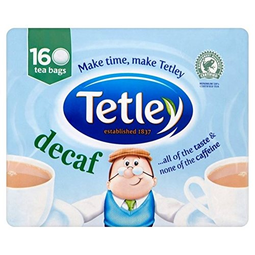 Tetley Decaf Teabags 160 per pack - Pack of 6