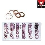 Neiko 110 Pieces Copper Washer Assortment Set - SAE