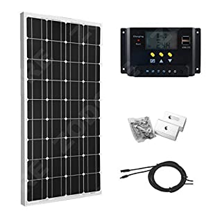 Panel Solar ZODORE 1 pieza * 100 vatios 100w monocristalino Fotovoltaica módulo del panel solar fotovoltaico 12V Carga de la batería para RV Barco Caravana, campista o yate, por fuera de la red / sistemas de energía solar de copia de seguridad 100 vatios