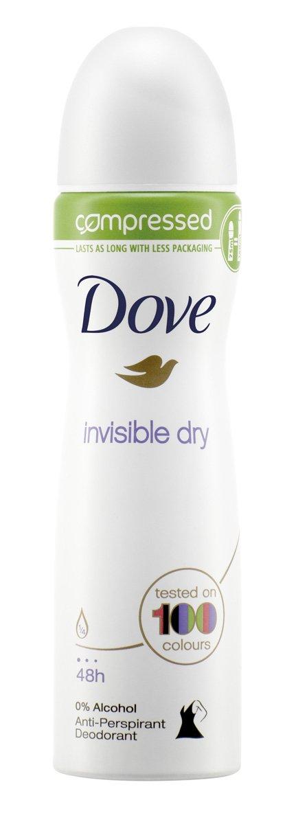 Dove Invisible Dry Aerosol Anti-Perspirant Deodorant Compressed 75 ml - Pack of 3 Unilever 8857795