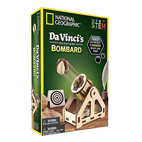 NATIONAL GEOGRAPHIC Da Vinci's DIY Science & Engineering Construction Kit- Build Your Own Wooden Model of The Original Bombard -