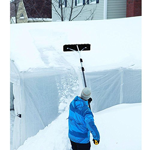 Non-Slip Handle Extends To17 Ft. Telescoping Roof Rake w/ 24 In. Poly Blade, Collapsible For Easy Storage, Use From The Ground, No Ladder Needed Clears Roof Of Dangerous Snow Build-Up by True Temper (Image #5)