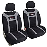Leader Accessories Two Front Car Seat Covers Auto Seat Covers Bucket - Low Back, Grey