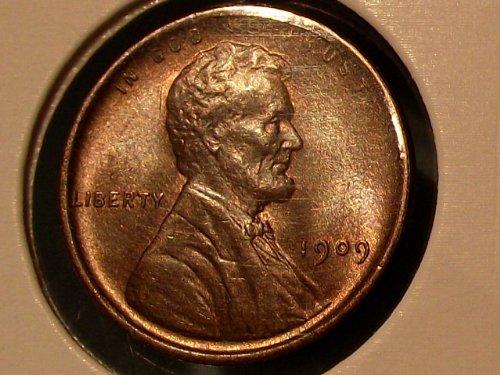 Coin 1909 VDB Penny Ms Rd/Bn ()