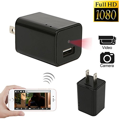 WNAT Mini 1080P WIFI HD Camera Plug Wall Charger Video Recorder Motion Detection Wireless Real-time Remote See Live Nanny Cam