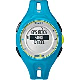 Timex Unisex TW5K87600 Ironman Run x20 GPS Full-Size Bright Blue Resin Strap Watch