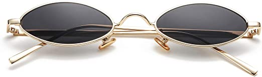 FREE BAG 80/'S Retro Oversized Oval GOLD Frame Round Women Clear Lens EYE GLASSES
