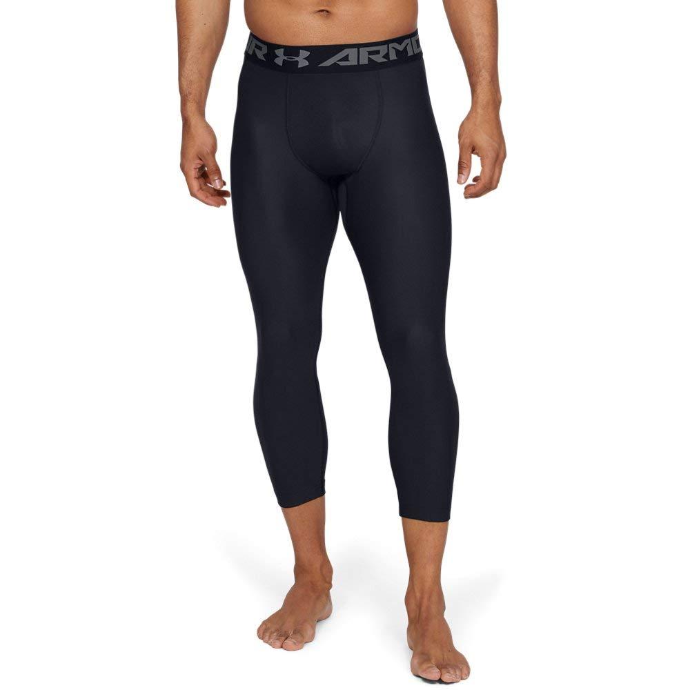 Under Armour Men's HeatGear Armour 2.0 ¾ Leggings, Black (001)/Graphite, Small