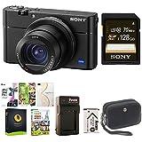 Sony DSC-RX100M5 Cyber-shot Digital Camera w/128GB Memordy Card Bundle