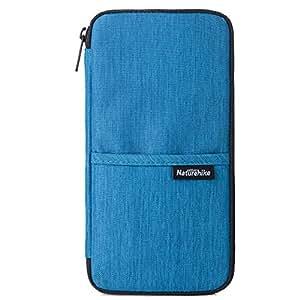 TRIWONDER Travel Passport Wallet, Waterproof Family Passport Holder Document Organizer Bag Purse Travel Pouch (Navy Blue)