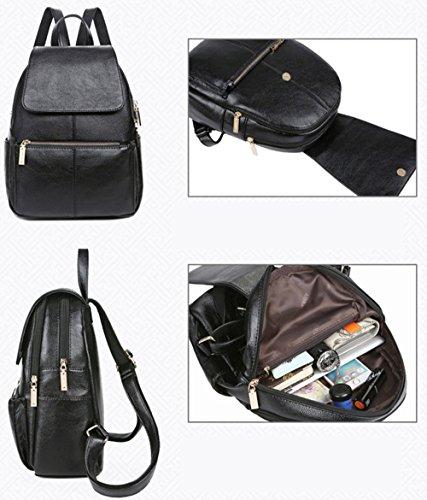 Greeniris - Bolso mochila  para mujer negro negro negro