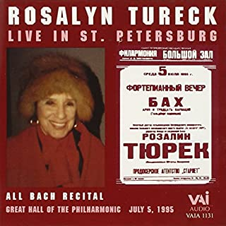 Live in St. Petersburg by Rosalyn Tureck (B000009LO2)   Amazon price tracker / tracking, Amazon price history charts, Amazon price watches, Amazon price drop alerts