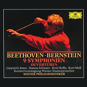 Ludwig van Beethoven, Leonard Bernstein, Vienna Philharmonic Orchestra,  Rene Kollo, Gwyneth Jones, Hanna Schwarz, Kurt Moll - Beethoven: The 9  Symphonies / (5) Overtures, Opp. 43;62;72b, c;84 - Amazon.com Music
